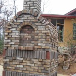 back of pizza oven
