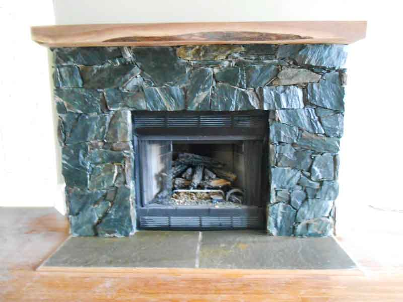 Contemporary Fireplace, Black Rock