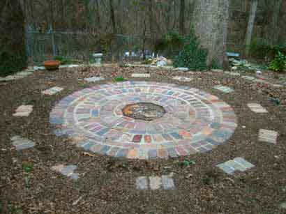 Wedding Circle with Reclaimed Bricks