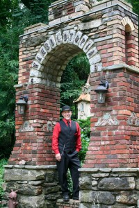 The Rock Pirate at Wamboldtopia, stone and brick entrance arch