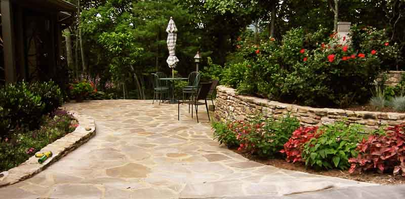 Stone Patio and Wall in SC