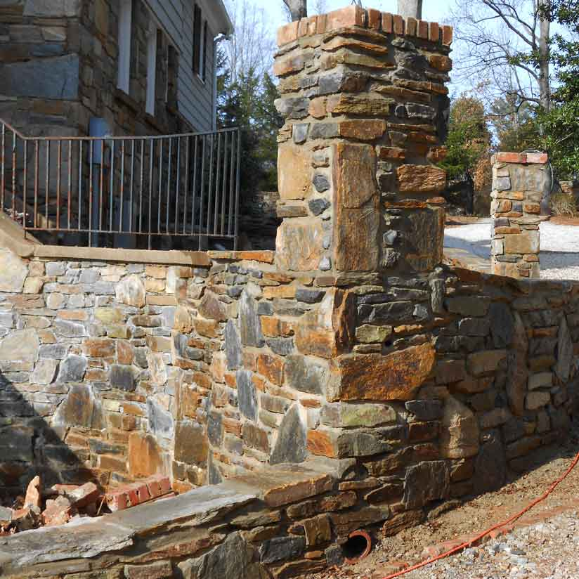 column-and-retaining-wall